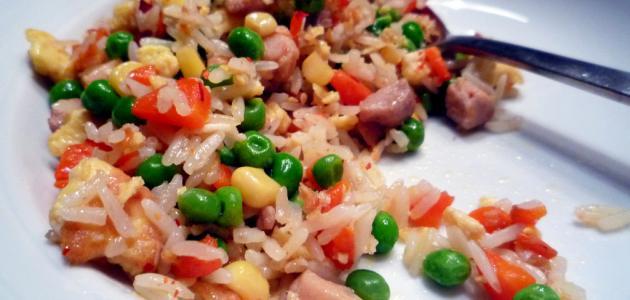 طريقة تحضير أرز بالخضار المشكلة