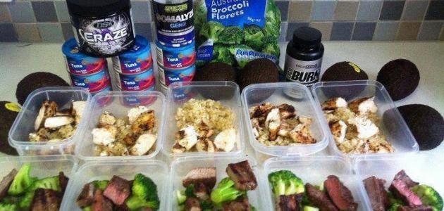 نظام غذائي بروتيني