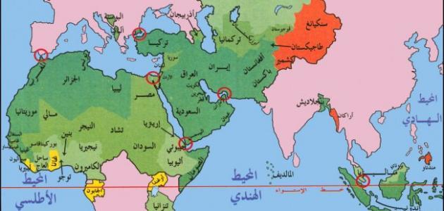 دول شرق آسيا حروف عربي