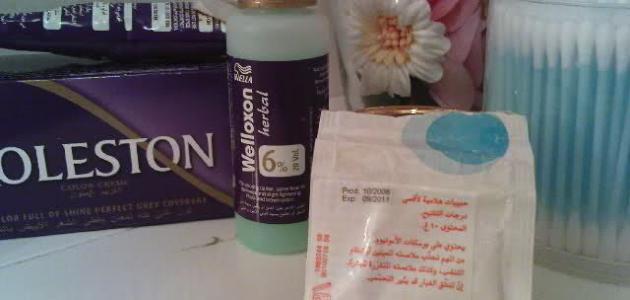 طريقة سحب اللون من الشعر بالبروكسيد حروف عربي